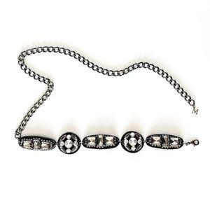 MaxMara Rhinestone Jeweled Chain Belt or Necklace!